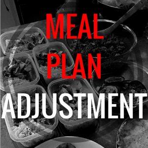 Meal Plan Adjustment + Follow Up